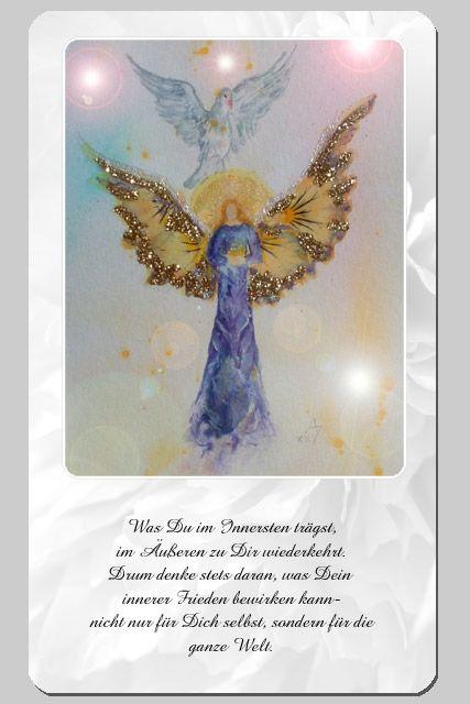 Engelkarte ziehen | Engel, Botschaft, Engelkarten