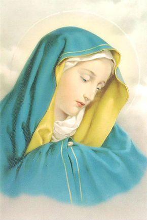 Imagen de la Virgen de los Dolores, una advocación de la Virgen María
