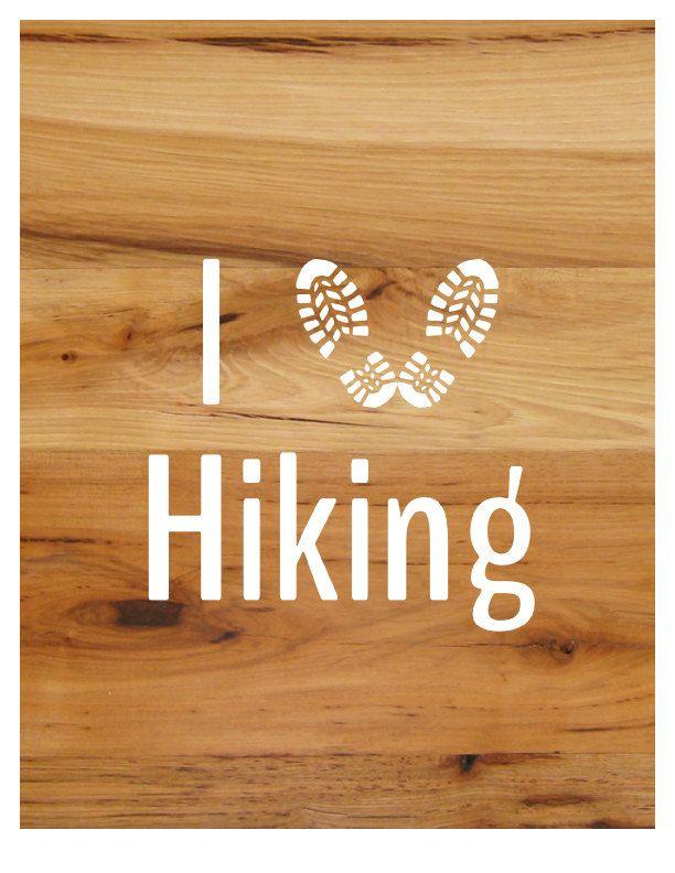 I love hiking sticker decal 6 x 6 vinyl outdoor sticker by freespiritandnerds