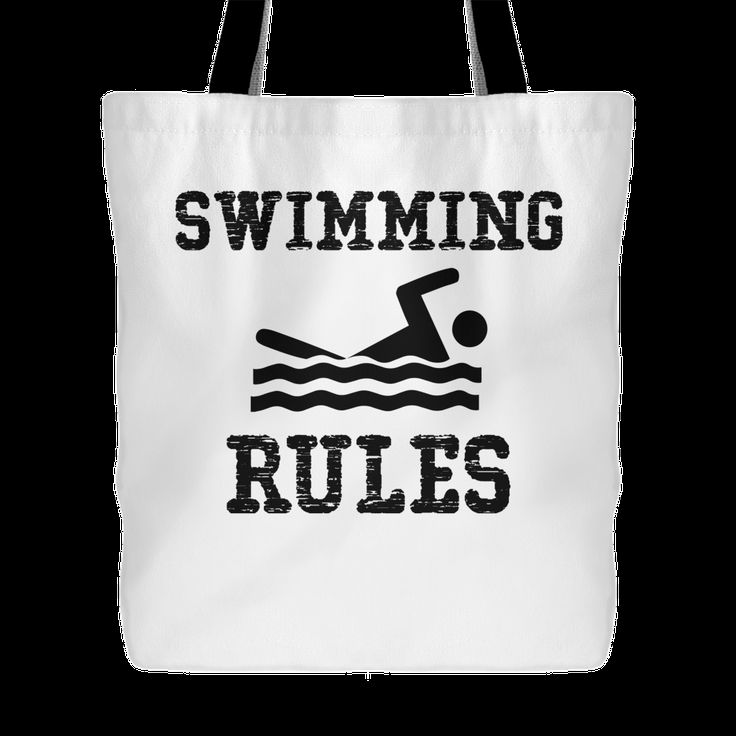 Swimming Rules - Swimming Tote Bag, 18 inches x 18 inches
