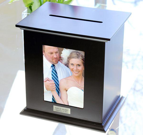 Black Reception Card Holder Photo Box #theweddingoutlet