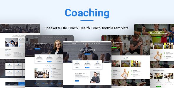 Coaching | Speaker, Life Coach, Health Coach Joomla Template - Business Corporate