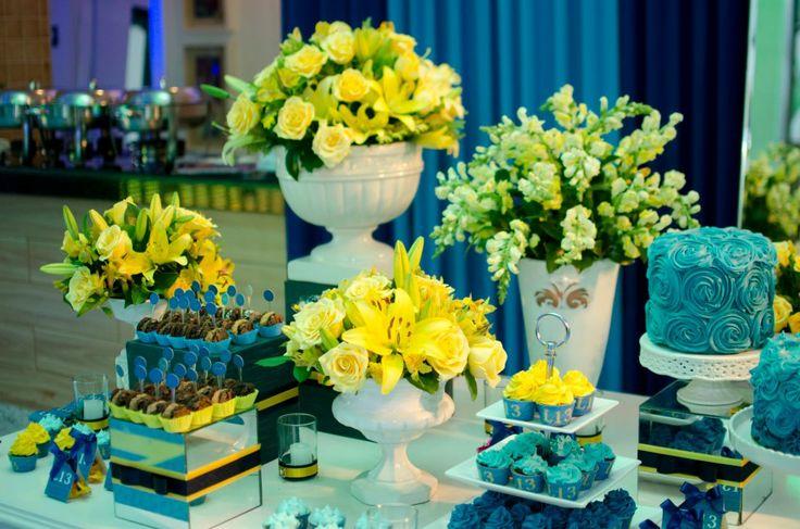 decoracao de festa azul marinho e amarelo:Azul e Amarelo prepareseparacasar.com