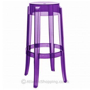 An elegant bar stool in transparent in the Louis XV style. This article has great charm and considerable visual appeal and brings a touch of elegance and irony to any style of kitchen or dining room