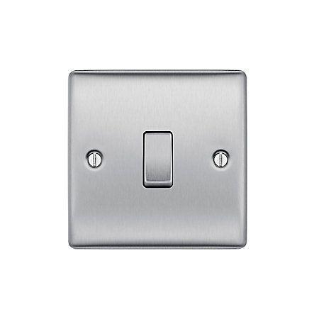 British General 10a 2 Way Single Brushed Steel Light Switch Pinterest