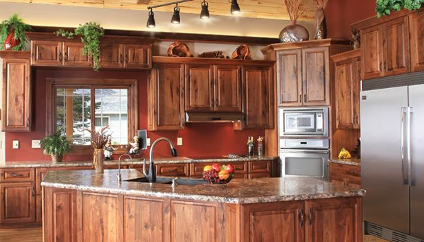 Best 25 rustic hickory cabinets ideas on pinterest for Cheap rustic kitchen cabinets