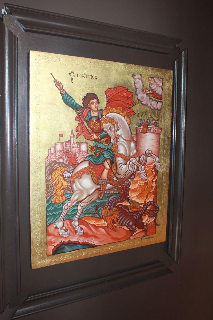st george byzanting greek icon