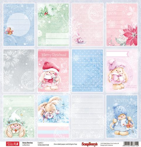 ScrapBerry's: Xmas Berries paper collection set - cards; designed by Marina Fedotowa
