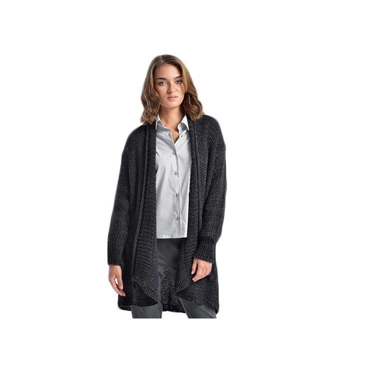 VENER Γυναικεια μαυρο πλεκτή ζακέτα, τσέπες
