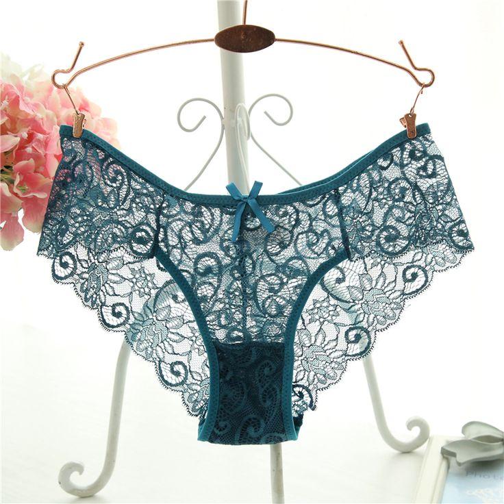 Plus Size S/XL Fashion High Quality Women's Panties Transparent Underwear Women Lace Soft Briefs Sexy Lingerie  Price: 1.65 USD