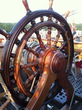 beautiful ship's wheel