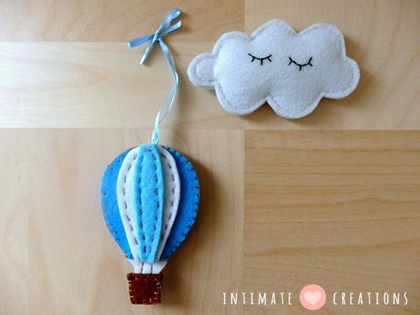Felt Air Balloon & Cloud
