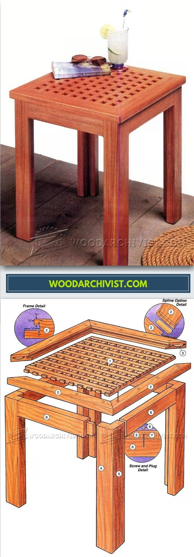 Deck Table Plans - Outdoor Furniture Plans and Projects | WoodArchivist.com