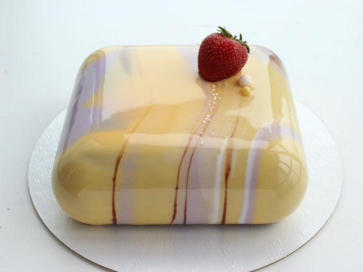 А вот и она: сладкая круглая подушечка ❤️ Вес торта вышел ровно 1 кг. // testing new cakes' forms