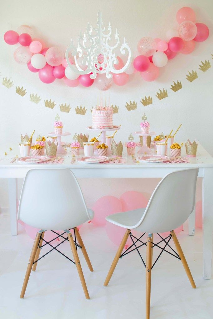 A Sweet Pink Gold Ballerina Princess Inspired Party Princess Birthday Party Balloon Decorations Party Kids Party Decorations