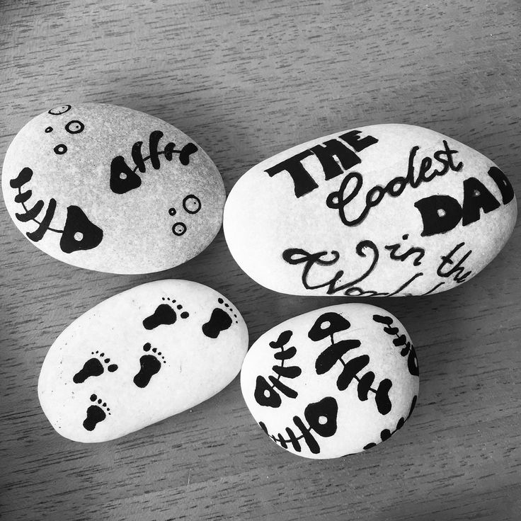Painted Stones with little pictures