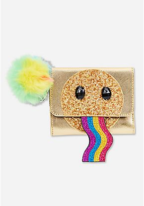 Sparkle Emoji Pom Wallet