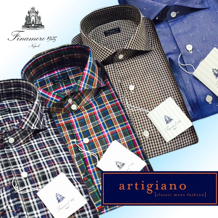 A few examples of custom Finamore shirts straight from Napoli.