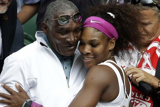 Baba Williams with daughter serena williams  . . . . She knows she looks like her dad. ~ Kai