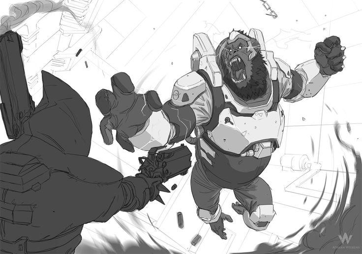 ArtStation - Overwatch Sketches , Adrian Wilkins