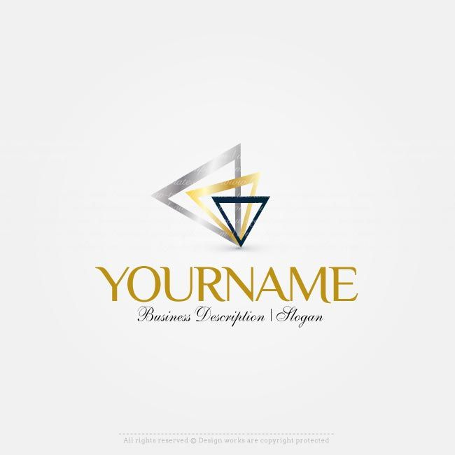 Design a Logo with www.createalogoonline.com, Ready made Triangles logo templates with triangle logo image.  Create a logo online with our free logo maker. Use our logo creator to change text, fill your company name, slogan, colors, fonts and more.
