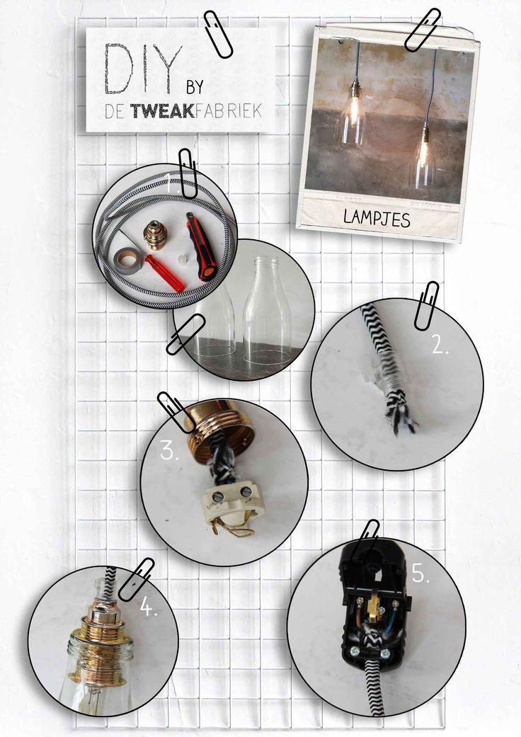 DIY tutorial   lampje van glazen sapfles