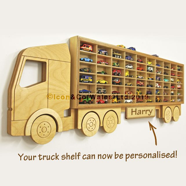 Toy Car Storage Truck Shelf Hot Wheels Garage Fits 60 Cars Free Uk Delivery Toy Car Storage Boys Toy Box Car Storage