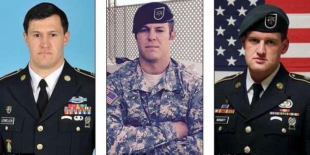 Staff Sgt. Matthew C. Lewellen,Staff Sgt. Kevin J. McEnroe and Staff Sgt. James F. Moriarty pictures,killed by 1st Sgt. Marik al-Tuwayha