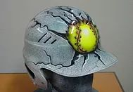 The Airbrush Shop Custom Airbrushing in Modesto Ca. T-Shirts, Softball Helmets Girls Batting basball | Granite Yellow ball