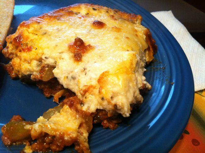 George Stella's Meat Lasagna (Low Carb)