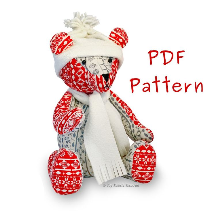 This is a photo of Ambitious Memory Bear Sewing Pattern Free Printable