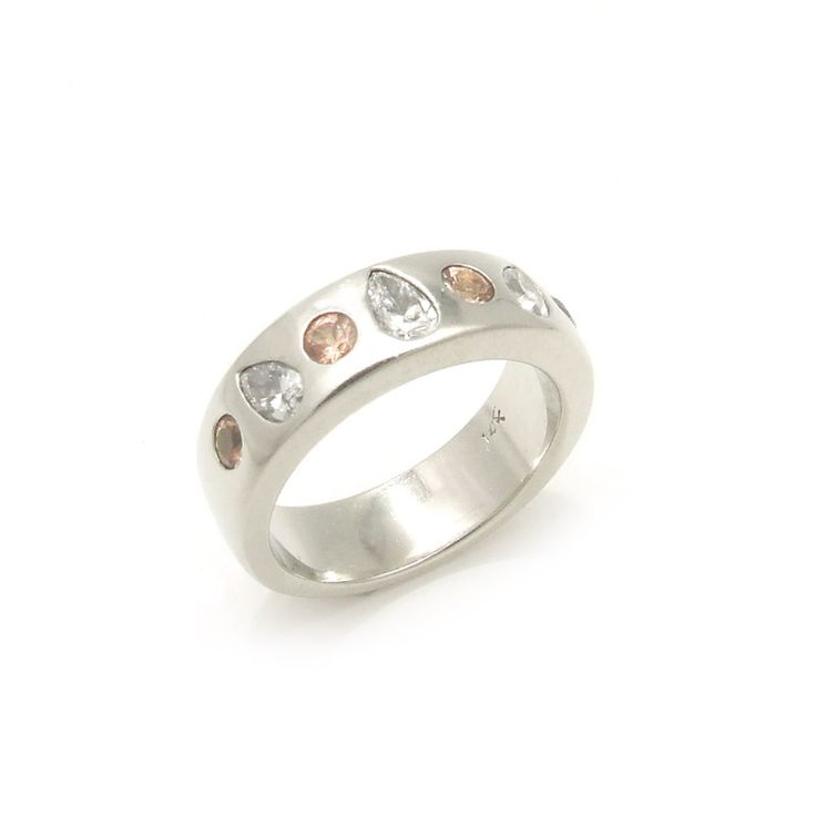 Imperial Topaz and Pear Diamond Ring Peaches and Pears Ring