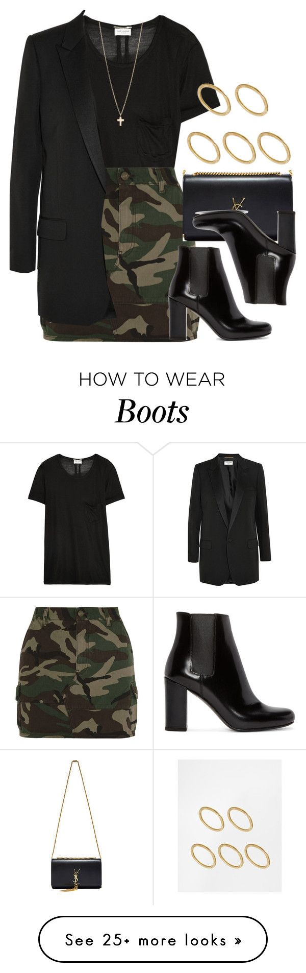 """""""Style #9788"""" by vany-alvarado on Polyvore featuring Yves Saint Laurent, Made, Minor Obsessions, women's clothing, women, female, woman, misses and juniors"""