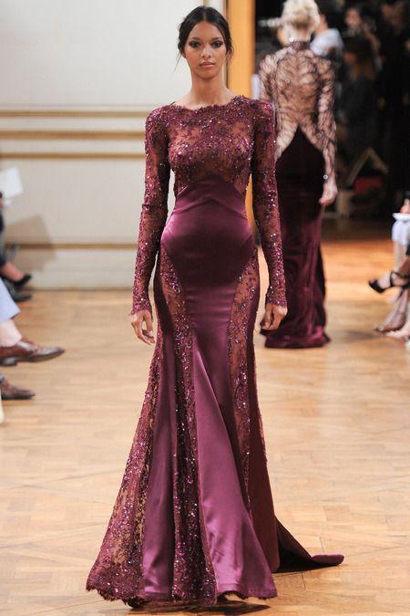 Curvy Feminine Gown So Glam! Zuhair Murad Fall Winter 2013 #Couture #fashion #fall2013 #Hautecouture #pfw