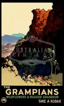 """This """"Grampians"""" poster by James Northfield is the most recently added poster to our online store!   Australian Vintage Posters"""