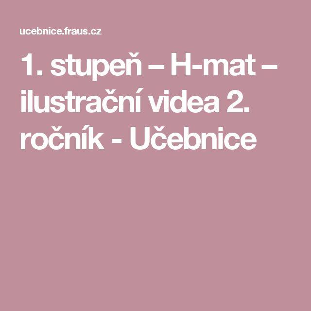1. stupeň – H-mat – ilustrační videa 2. ročník - Učebnice
