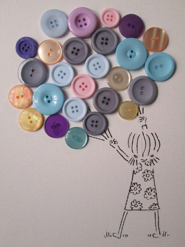 Button Art Canvas (A4)
