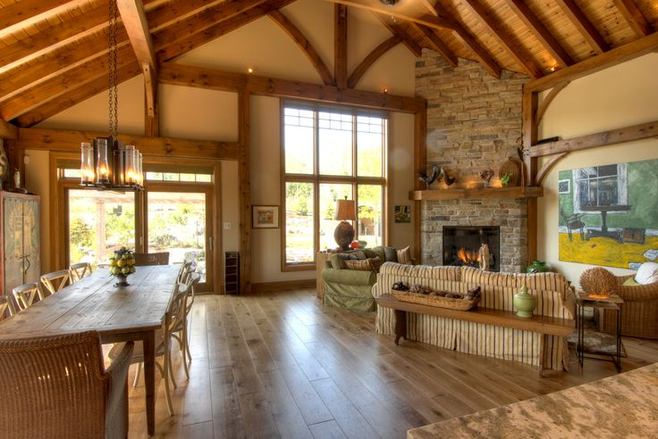 We Have Vaulted Ceilings And A Brick Fireplace In The
