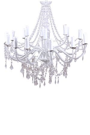 """This acrylic and metal classic shape 12 arm chandelier, is a definite eye catcher. Display in your reception, entrance or open living area. This chandelier will capture the soul of the room.<BR><BR>Mr Price Home is NRCS (SABS) compliant.<div class=""""pdpDescContent""""><BR /><b class=""""pdpDesc"""">Dimensions:</b><BR />L71.5xW71.5xH124 cm</div>"""