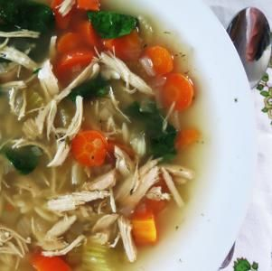 Chicken Lemon Soup with Orzo Pasta - Crockpot   All recipes with Trader Joes products for easy, quick, healthy meal ideas