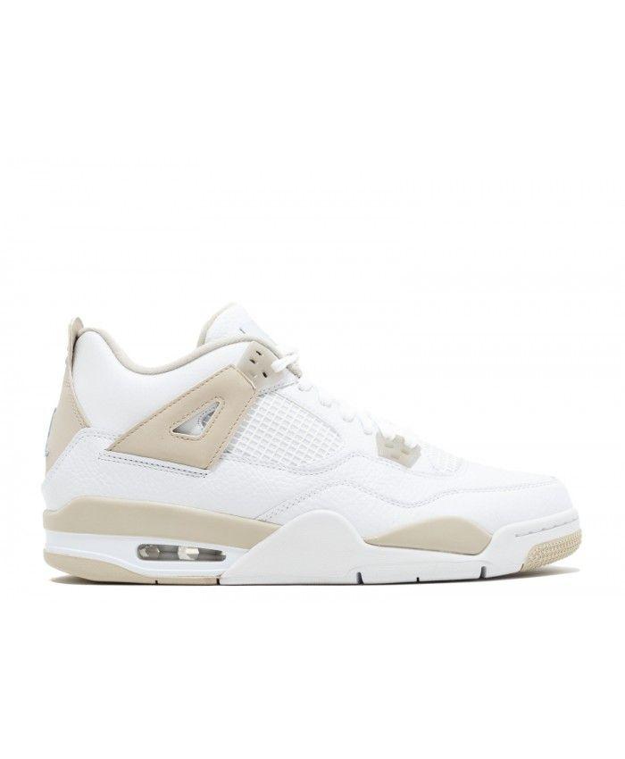426e4fd9249c52 Nike Air Jordan 4 Retro Gg Gs Linen White Border Blue Light Sand Outlet