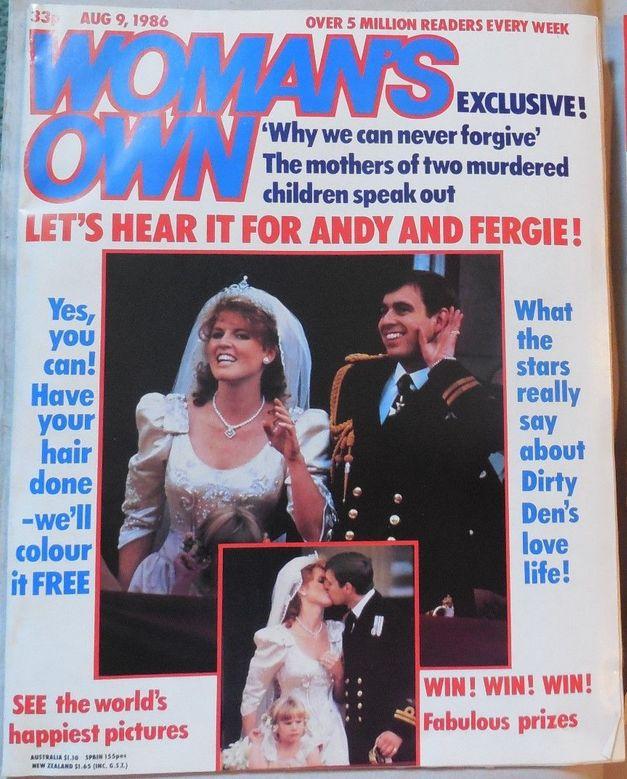 WOMAN'S OWN aug 9, 1986 - Royal wedding