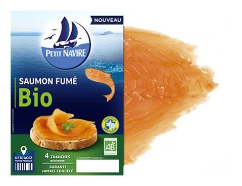Saumon fumé Petit Navirre, oct 2016 fabriqué en Bretagne
