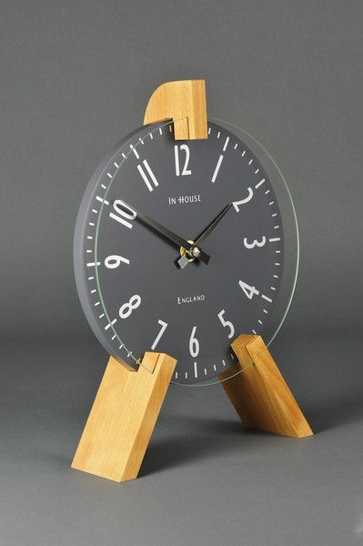 Handmade Mantel Clock, Grey | Smithsonia