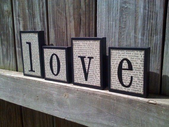Love letter blocks - #Valentines