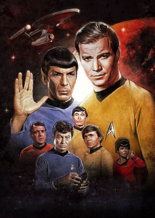 Star Trek: Origins - An Illustrated Print by Paul Shipper, via Behance