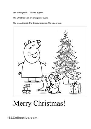 peppa pig 39 s christmas christmas and winter worksheets games films. Black Bedroom Furniture Sets. Home Design Ideas
