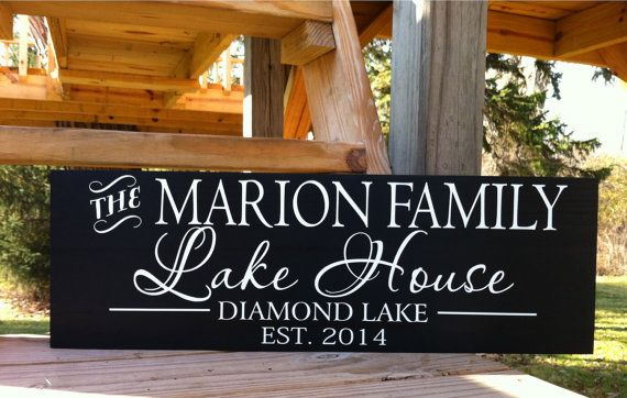 Lake House Sign-Lake House Decor-Custom Lake by SugarCreekLane
