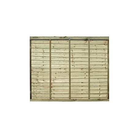 Pro Lap Fence Panel (W)1.83m (H)1.8m, Pack of 4 | Departments | DIY at B&Q