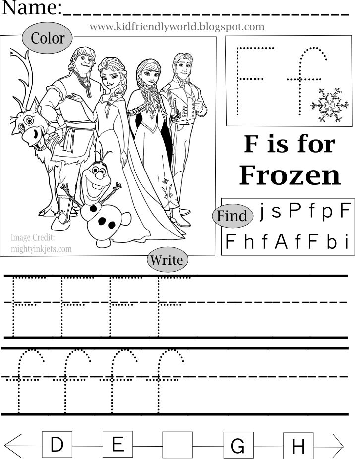 F is for Frozen   Frozen coloring pages, Coloring pages ...